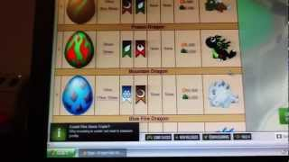 DragonVale Dragons and Eggs