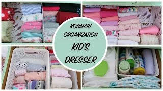 KonMari Home Organization | Kids Clothing Dresser