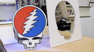 CNC Cutting a Gatorfoam Board - Grateful Dead Sign on Router