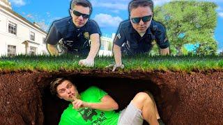 I Hid UNDERGROUND From POLICE!! (HIDE & SEEK CHALLENGE)