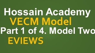 VECM. Model Two. Part 1 of 4. EVIEWS