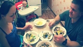Ужин в деревне // Муж на кухне // Жизнь в деревне