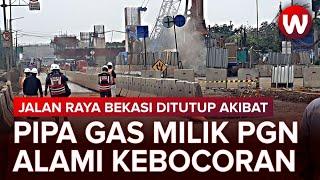 Pipa Gas PGN di Jakarta Timur Alami Kebocoran, Semburan Gas Buat Warga Panik