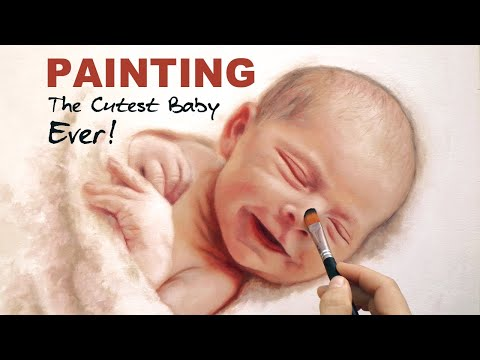 painting realistic baby by isabelle richard