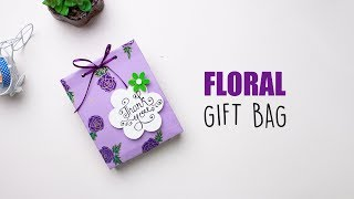 DIY Gift Bag Ideas | Floral Bag Ideas | Paper Bags