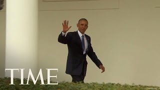 President Obama Leaves The Oval Office For The Last Time | TIME