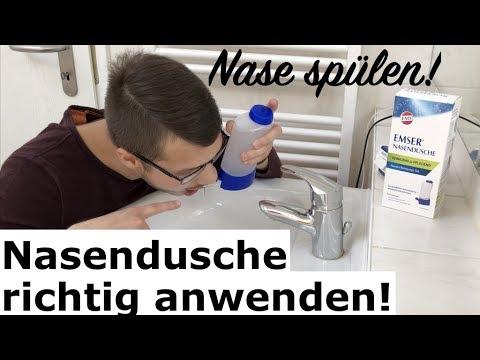 Nase spülen: Nasendusche richtig anwenden