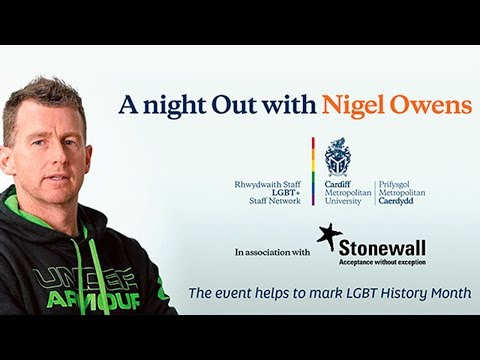 Public Lecture Series: 'A night Out with Nigel Owens' - Nigel Owens MBE