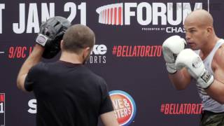 Tito Ortiz works out for the public before his bout with Chael Sonnen at Bellator 170