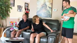 Grandparents Shocked When Mom Brings Home Twins