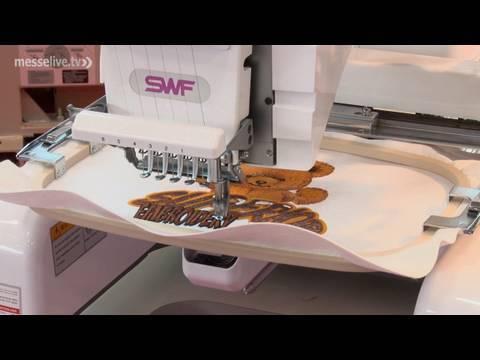Stickmaschinen - vom Bild am PC zum fertigen Motiv auf Textilien (Messe-LIVE FESPA 2010)