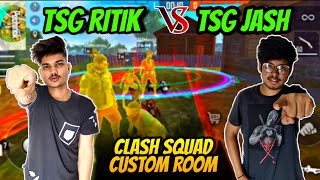 FREEFIRE || TSG JASH VS TSG RITIK TEAM || TSG ARMY GUILD WAR || OMG LIVE REACTION GAMEPLAY :