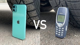 iPhone 11 vs Nokia 3310 vs CAR