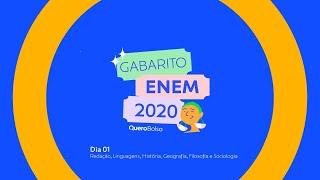 Questões do ENEM 2020 - Anglo comenta