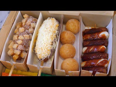 popular korean cheese hot dog combo – korean street food
