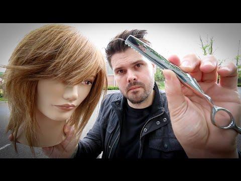 Shag Haircut Tutorial – Medium Length Layered Haircut With A Razor | MATT BECK VLOG 46