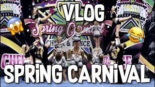I FAINTED! | CHEER COMPETITION VLOG | SPRING CARNIVAL 2018