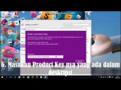 Video Cara mengaktivasi windows 10 pro + dengan kode product key