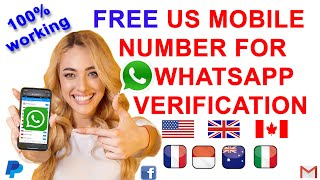 How to Get a Free US Number for WhatsApp Verification 2020 | Free Mobile App to Verify Via SMS