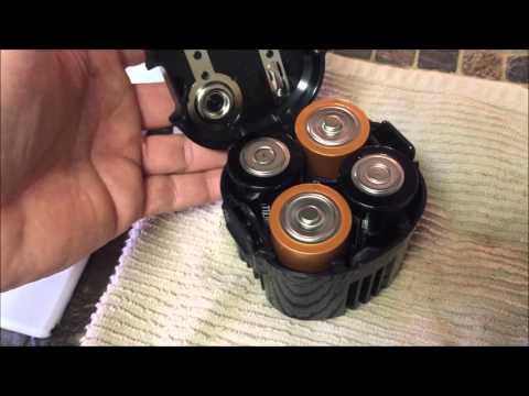 Coleman LED Light Battery Cartridge Replacement + USPO Gripe