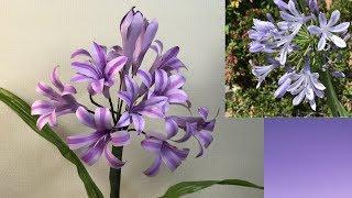 折り紙の花ペーパーフラワー梅雨空を彩るアガパンサスの花~折り方解説付き