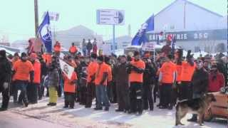 preview picture of video 'Solidarité: Toronto Steelworkers join Alma Rio Tinto workers / Syndicat des Métallos'