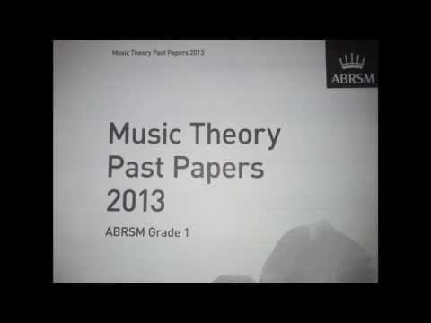 Music theory past papers 2013 grade 1 Test A- Ex 4