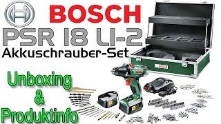 Bosch PSR 18 LI-2 Akkuschrauber Unboxing [1080p FullHD]