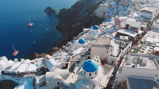 Santorini Greece 🇬🇷 Drone Fly over 4K.