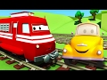 Download Video 拖车汤姆和火车特洛伊在汽车城  🚚 儿童卡通片