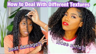 WASH AND GO ROUTINE | HEAT DAMAGE, DIFFERENT TEXTURE TIPS, AND MORE!