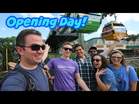 Opening Day of the Disney Skyliner | Fireworks from the Air!