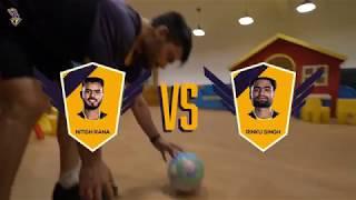Rinku Singh v Nitish Rana - The football Penalty Showdown