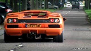 Lamborghini Diablo VT Roadster & Diablo VT 6.0 V12 Sound!! - 1080p HD