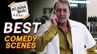 Best Comedy Best Scenes Of Munna Bhai M.B.B.S. | Sanjay Dutt, Arshad Warsi, Boman Irani - Download this Video in MP3, M4A, WEBM, MP4, 3GP