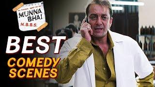 Best Comedy Best Scenes Of Munna Bhai M.B.B.S. | Sanjay Dutt, Arshad Warsi, Boman Irani