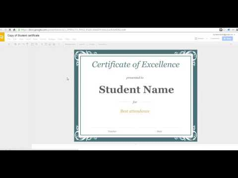 How to create a certificate in Google Slides - YouTube