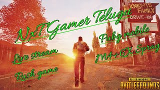 live stream Pubg mobile || next level game with NXT game Telugu #57