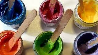 How To Make BODY PAINT - Home Made Face Paint For Children (Party, Carnival, Saint Patricks Day)