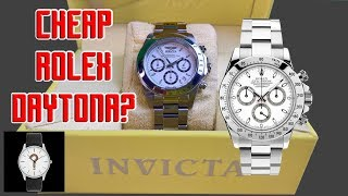 Invicta Speedway - CHEAP ROLEX DAYTONA?  [ Should I Time This ]