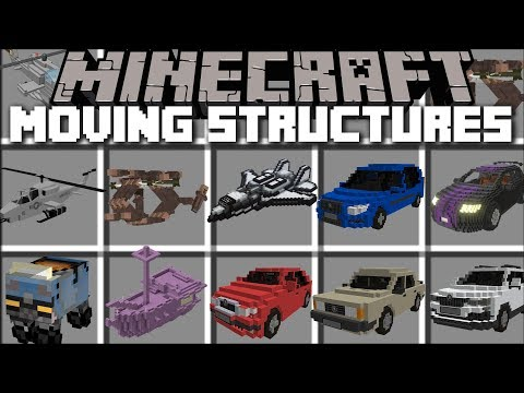 Minecraft LIVE INSTANT STRUCTURES MOD / MOVING STRUCTURES!! Minecraft