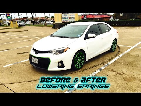 Toyota Corolla Lowering Springs Before & After Mp3