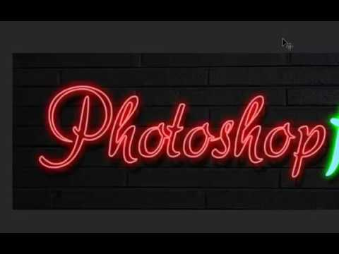 How To Create A Hot Neon Animated GIF Image In Photoshop.
