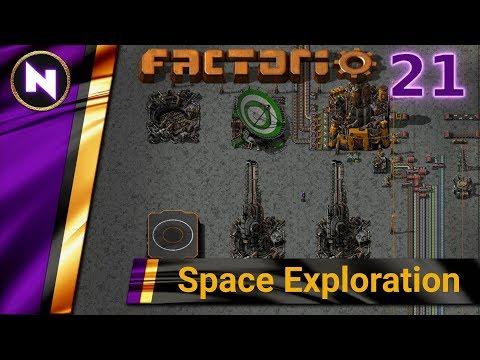 Factorio 0.17 Space Exploration #21 SULFUR AND BATTERIES
