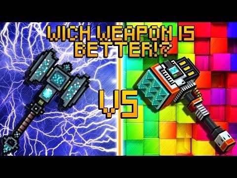 Runic Hammer VS Jet Tenderizer - Pixel Gun 3D