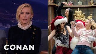 Kristen Bell Loves Making Physical Contact With Mila Kunis & Kathryn Hahn  - CONAN on TBS