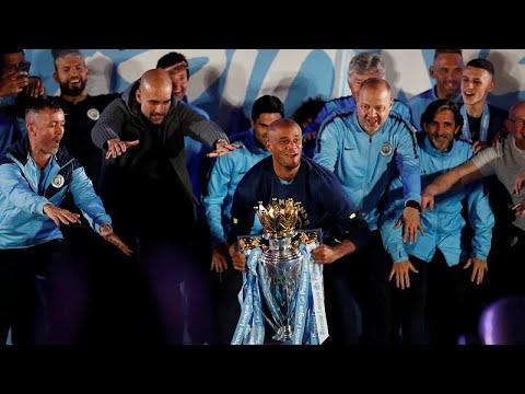 El Machester City celebra la conquista de la Premier League