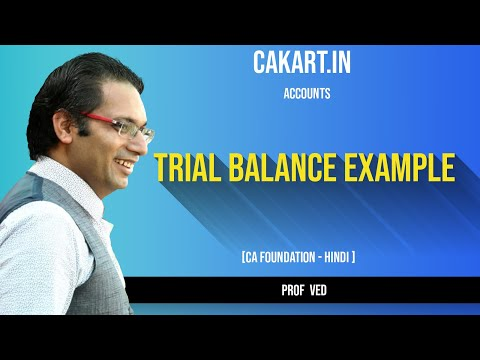Trial Balance Example Accounts Lecture CA Foundation