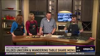 Gilded Unicorn and Wandering Table Share Restaurant Week menus (2-27-18)