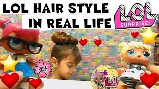 LOL SURPRISE #60 HAIR STYLE in REAL LIFE + Unboxing Confetti By Lara e Babou